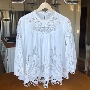harlyn (Anthropolgie) White Butterfly Blouse